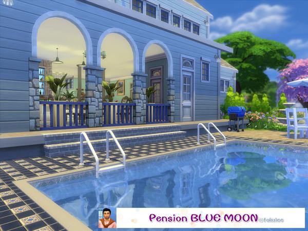 Sims 4 Pension Blue Moon by leetoku at TSR