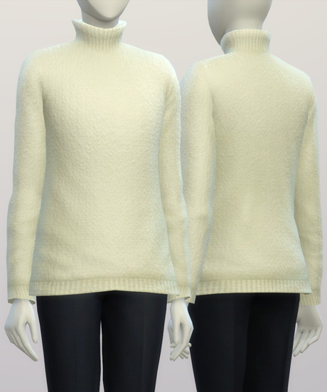 Turtleneck sweater F solid (16 colors) at Rusty Nail image 352 Sims 4 Updates