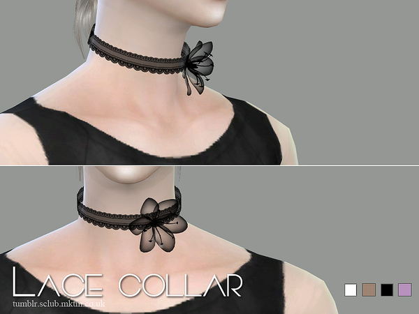 Sims 4 Lace collar 05 by S Club LL at TSR