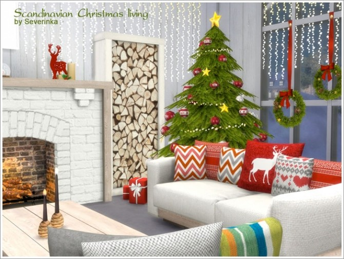 Sims 4 Scandinavian Christmas living at Sims by Severinka
