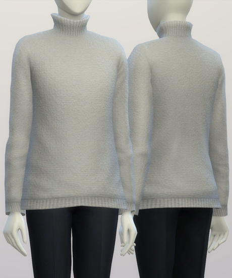 Turtleneck sweater F solid (16 colors) at Rusty Nail image 362 Sims 4 Updates
