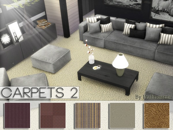 Sims 4 Carpets 2 by Pralinesims at TSR