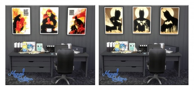Sims 4 Batman Posters Collection at Victor Miguel