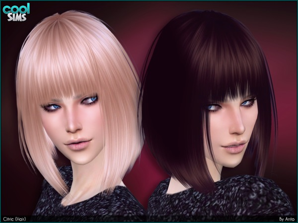 Sims 4 Citric Hair by Anto at TSR