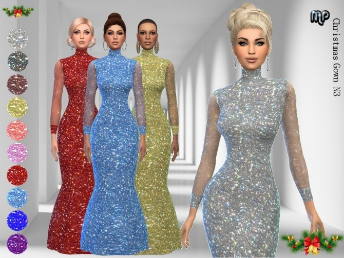 Sims 4 MP Christmas Gown N3 at BTB Sims – MartyP