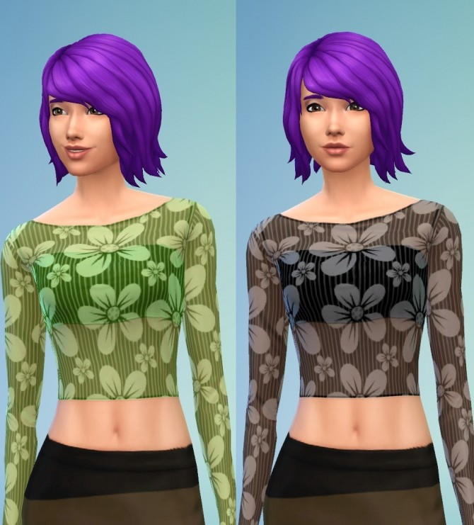 Sheer Party Top 8 Floral Set by wendy35pearly at Mod The Sims image 3816 670x741 Sims 4 Updates