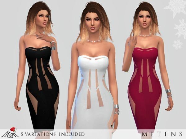 Sims 4 Broken Dress by Metens at TSR