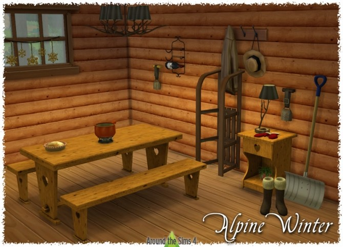 Sims 4 Alpine Winter Dining Room at Around the Sims 4