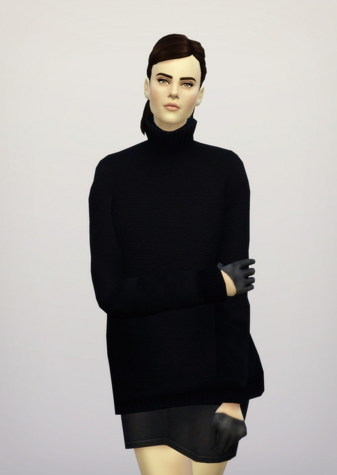 Turtleneck sweater F solid (16 colors) at Rusty Nail image 392 670x946 Sims 4 Updates
