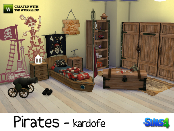 Pirates Bedroom By Kardofe At Tsr Sims 4 Updates