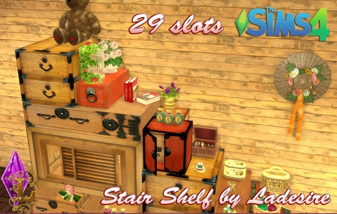 Sims 4 Stair Shelf at Ladesire