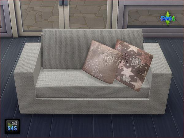 Sims 4 2 sets with 8 big and 8 small cushions by Mabra at Arte Della Vita