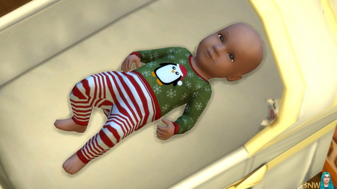 Baby Penguin Christmas Outfits At Sims Network Snw