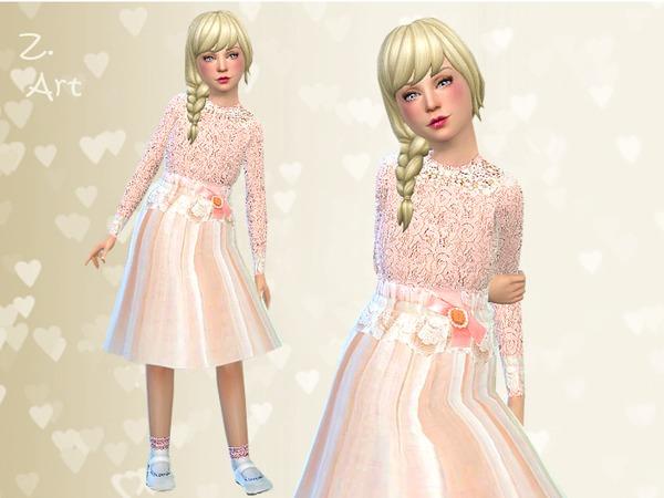 Sims 4 Small Love dress by Zuckerschnute20 at TSR