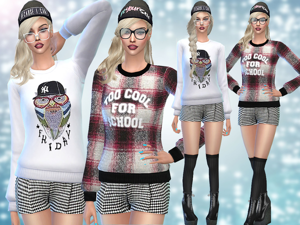 Too Cool for School Winter Mini Set by Pinkzombiecupcakes at TSR image 4106 Sims 4 Updates