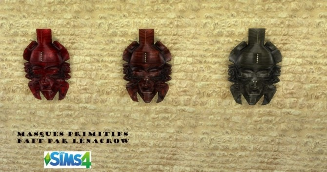 Primitive masks by LénaCrow at Sims Artists image 4119 670x353 Sims 4 Updates