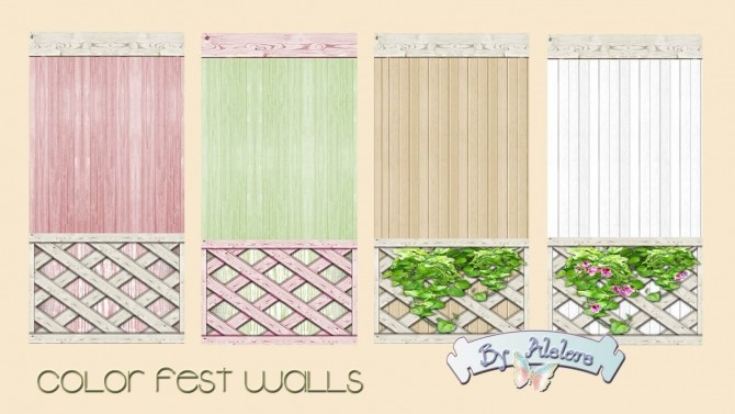 Sims 4 COLOR FEST WALLS at Alelore Sims Blog
