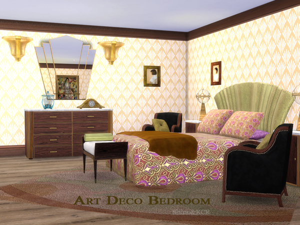 art deco bedroom by shinokcr at tsr image 414 sims 4 updates