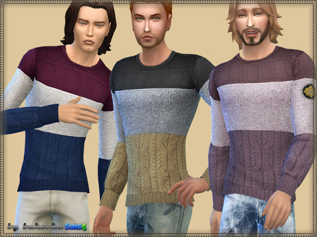 Tricolor Sweater at Busted Pixels image 4226 Sims 4 Updates