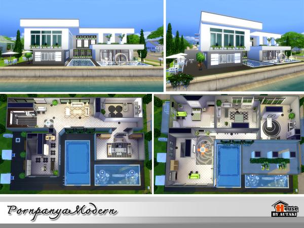Sims 4 Modern house by autaki at TSR