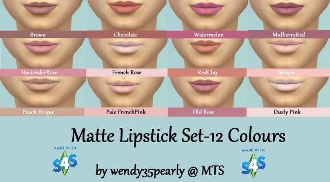12 Glossy and 12 Matte lipsticks by wendy35pearly at Mod The Sims image 4230 670x369 Sims 4 Updates
