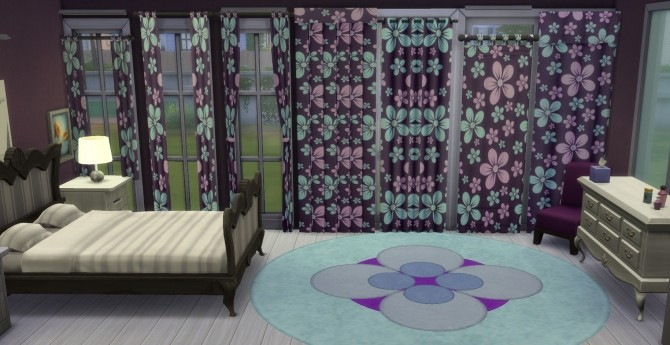 Sims 4 Curtain Pack 6 Floral Designs by wendy35pearly at Mod The Sims