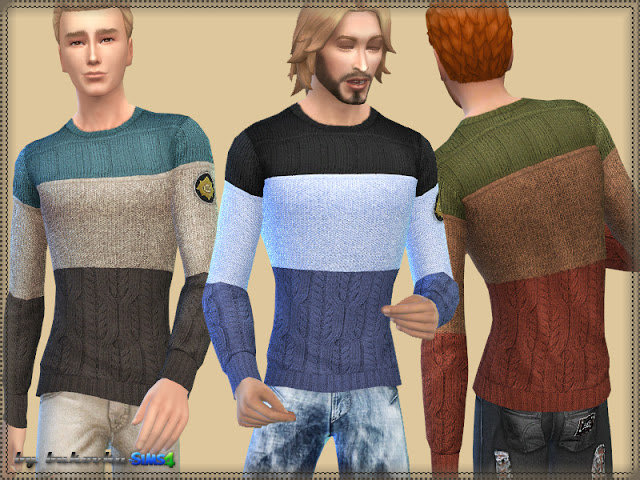 Tricolor Sweater at Busted Pixels image 4325 Sims 4 Updates