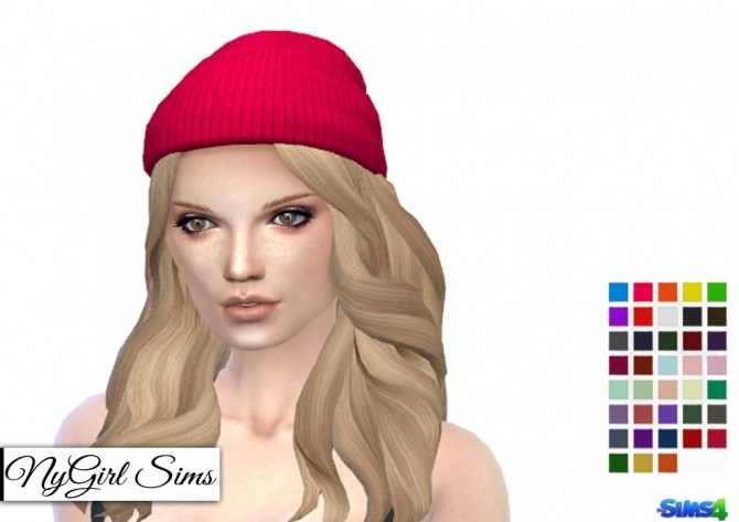 Knitted Beanie Edit at NyGirl Sims image 434 670x473 Sims 4 Updates