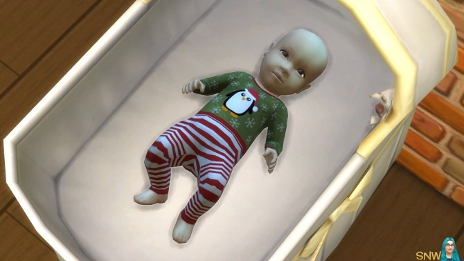 Sims 4 Baby Penguin Christmas Outfits at Sims Network – SNW