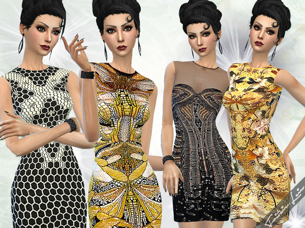 Sims 4 Designer Dresses by Fritzie.Lein at TSR