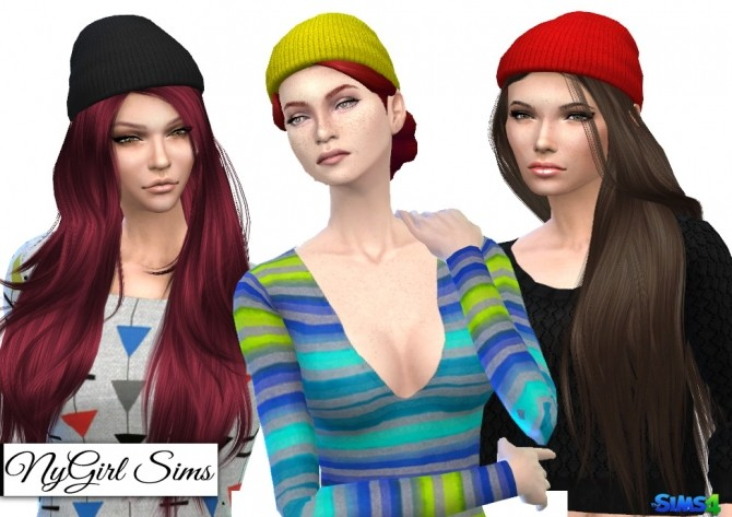 Sims 4 Knitted Beanie Edit at NyGirl Sims