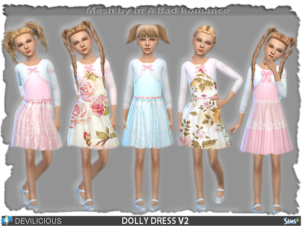 dolly dress set by devilicious at tsr 187 sims 4 updates