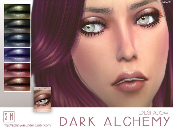 Sims 4 Dark Alchemy Eyeshadow by Screaming Mustard at TSR