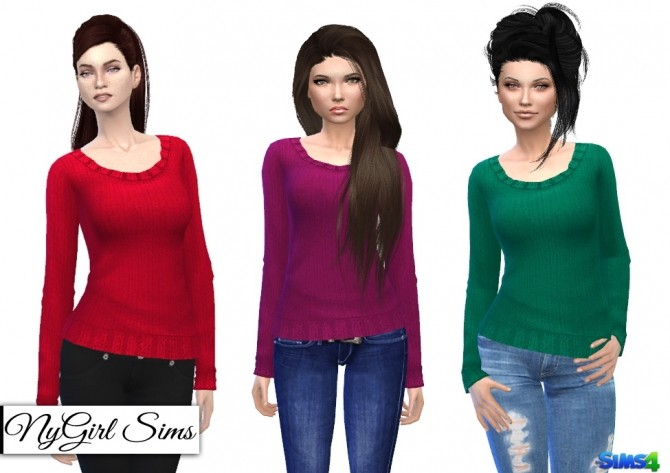 Basic Knitted Sweaters at NyGirl Sims image 464 670x473 Sims 4 Updates