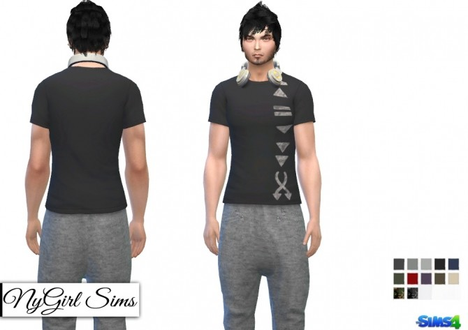 Sims 4 Drop Crotch Sweat Pant with Zippers at NyGirl Sims