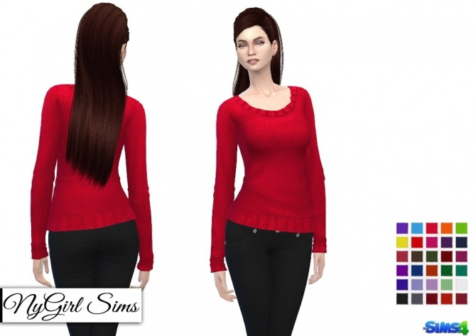 Basic Knitted Sweaters at NyGirl Sims image 474 670x473 Sims 4 Updates