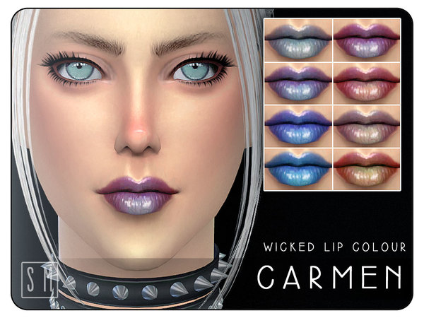 Sims 4 Carmen Wicked Lip Colour by Screaming Mustard at TSR