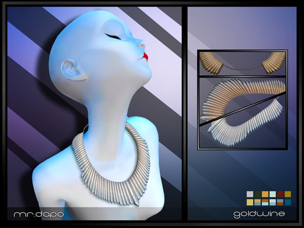 Sims 4 Goldwine Necklace by Mr.Dapo at TSR
