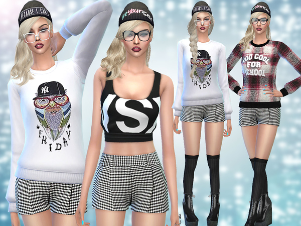 Too Cool for School Winter Mini Set by Pinkzombiecupcakes at TSR image 5106 Sims 4 Updates