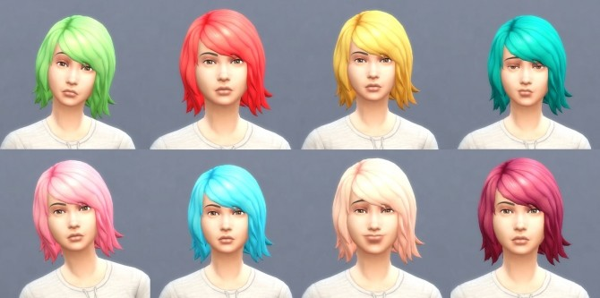 Get To Work Hairs in Hunings Pony Colors by lottidiezweite at Mod The Sims image 5111 670x333 Sims 4 Updates