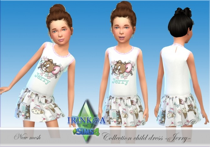 Jerry Collection dresses for kids at Irink@a image 5113 670x469 Sims 4 Updates