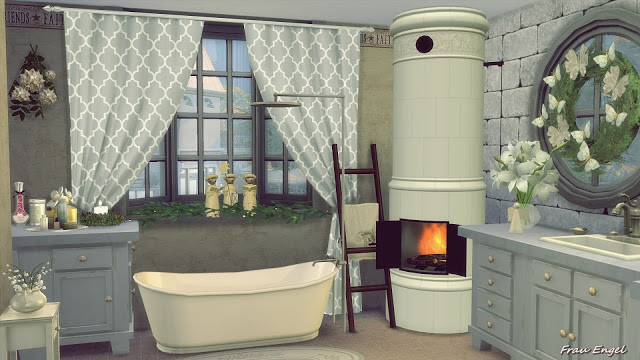The Winter S Tale Shabby Chic Cottage At Frau Engel 187 Sims