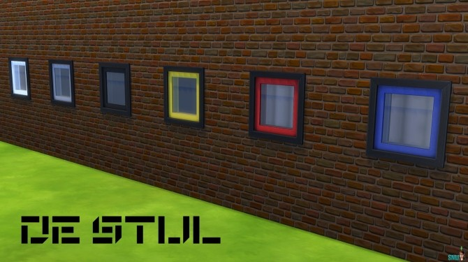 De Stijl Windows by Rosana at Sims Network – SNW image 512 670x375 Sims 4 Updates