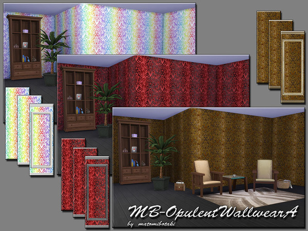 Sims 4 MB Opulent Wallwear A by matomibotaki at TSR