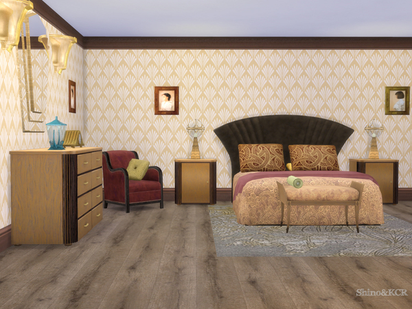Art Deco Bedroom By ShinoKCR At TSR Sims 4 Updates