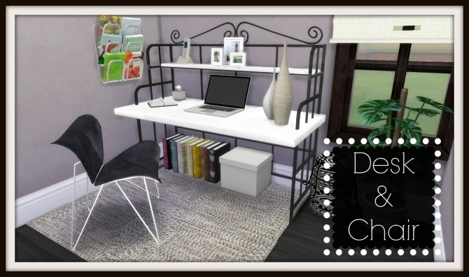 Ts2 To Ts4 Office Desk Amp Chair At Dinha Gamer 187 Sims 4