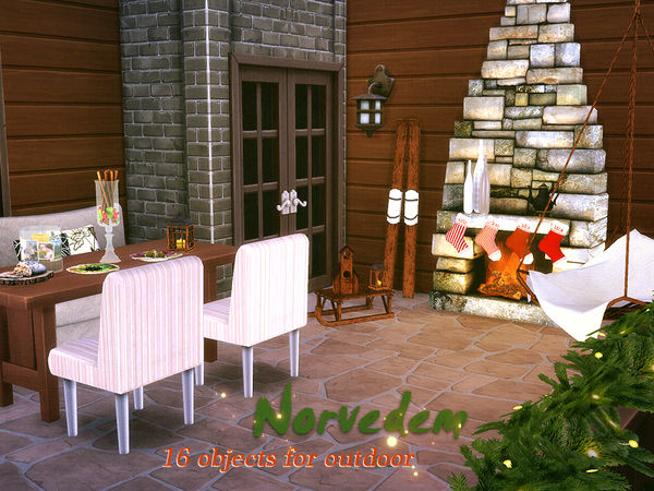 Norvedem 16 objects for outdoor by Kiolometro at Sims Studio image 53 Sims 4 Updates