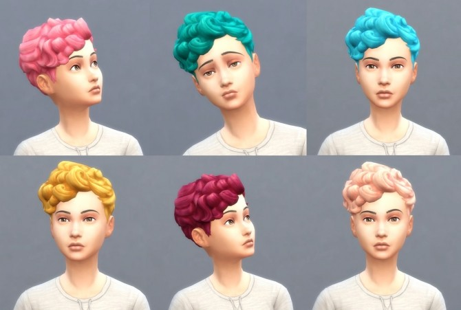 Sims 4 Get To Work Hairs in Hunings Pony Colors by lottidiezweite at Mod The Sims