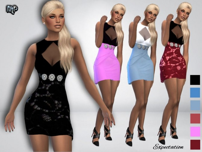 MP Expectation Dress at BTB Sims – MartyP image 5419 670x503 Sims 4 Updates