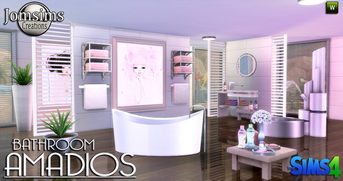 Amadios Bathroom At Jomsims Creations Sims 4 Updates